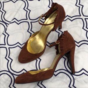 J. Crew ruffled heels